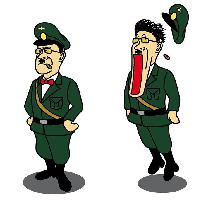 ヒトラー風キャラクター(習作) 2001